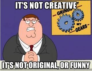 not creative
