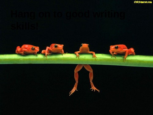 Good-Writing-Frog-Powerpoint-Presentation-Transcript-11478